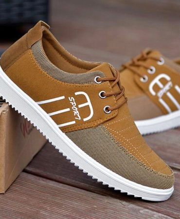 Breathable Mens Casual Shoes With Lace Up Spring Summer and Fashion Design
