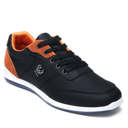 Pu Leather Fall Spring Trendy Casual Shoes for Mens
