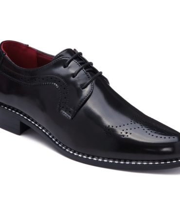 Mens Fashion Shoes With Lace-Up and Solid Design