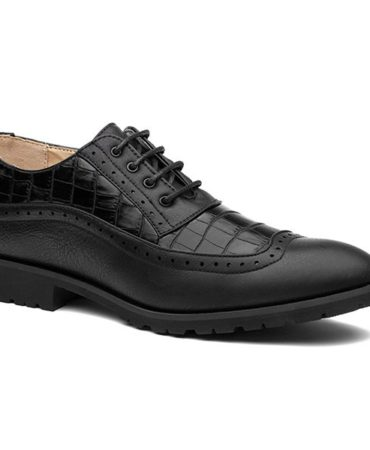 Solid Fall Spring Pu Leather Hollow Out Mens Dress Shoes