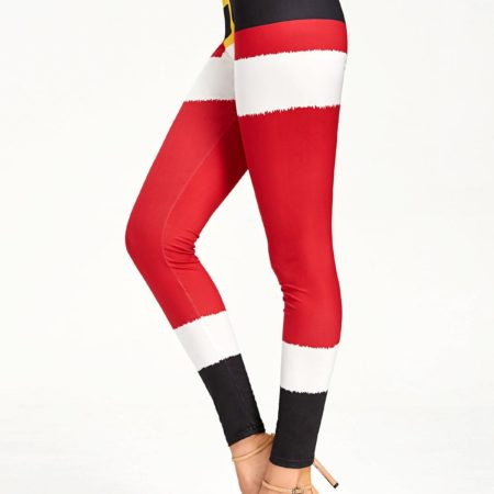 Red Fashion Casual Leggings for Ladie