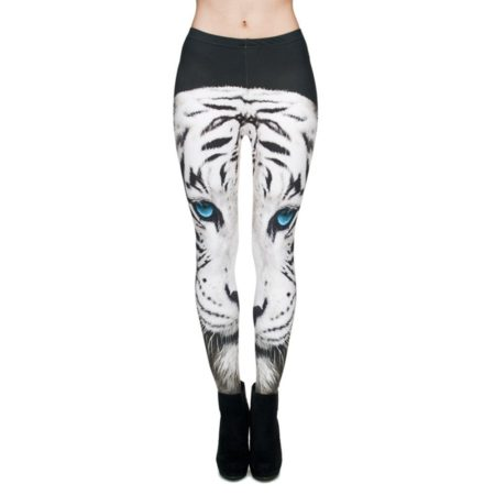 Casual Elastic Cotton Animal Print Leggings