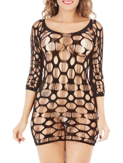 Lace Hollow Out Sexy Womens Dress