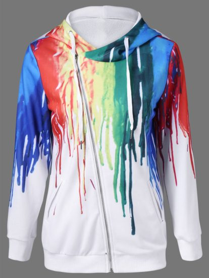 Fashion Paint Design Fall Spring Ladies Hoodie