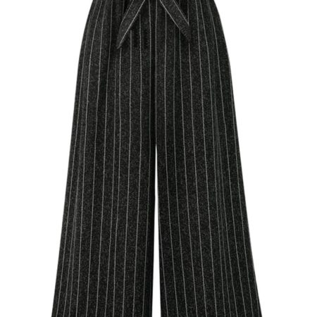 Fashion Striped Womens Wide Leg Pants