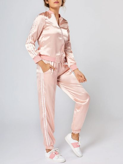 Pink Casual Fashion Womens Top Pants Set