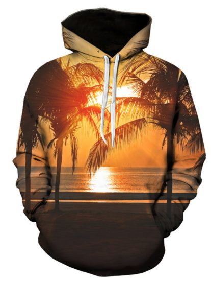 3D Print Cotton Casual Romantic Pullover Hoodie