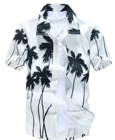 Short Sleeve Printed Summer Shirt for Men