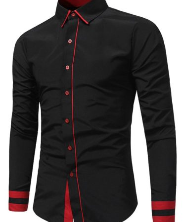Casual Cotton Turndown Collar Shirt for Men