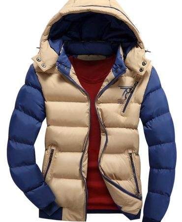 Winter Padded Casual Separable Hood Puffer Mens Jacket