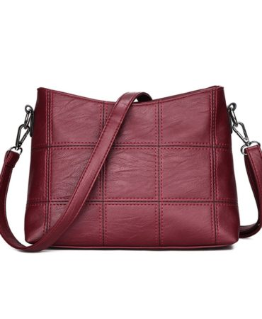 Fashion Burgundy Crossbody Bag for Ladie