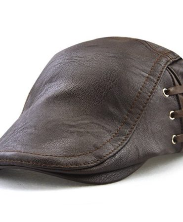 Fashion Pu Leather Mens Hat