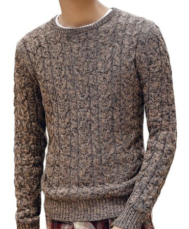 Brown Trendy Cotton Mens Winter Sweater
