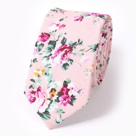 Fashion Pink Floral Tie