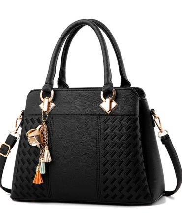 Women's Black Casual Work Handbag