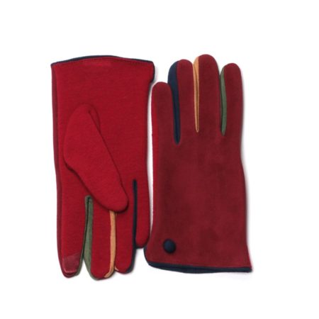 Red Winter Fashion Womens Driving Gloves