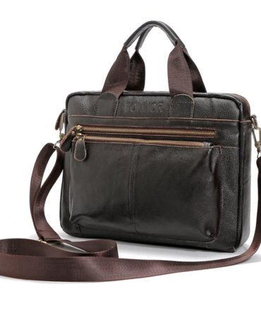 Leather Business Men's Briefcase Handbags