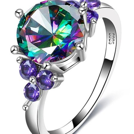 Fashion Faux Amethyst Gem Ladies Ring