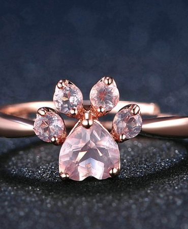 Pink Fashion Animal Faux Crystal Womens Ring