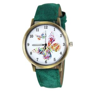Fashion Pu Leather Quartz Ladies Watch