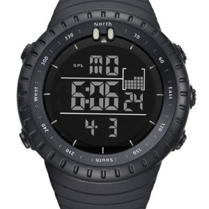 Unisex Black Waterproof Digital Sports Watch