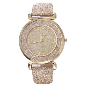 Fashion Golden Color Rhinestone Analog Womens Watch