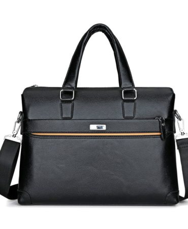Black Laptop Mens Briefcase Bag