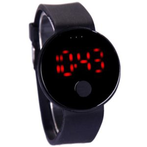 Black Digital Sports LED Watch