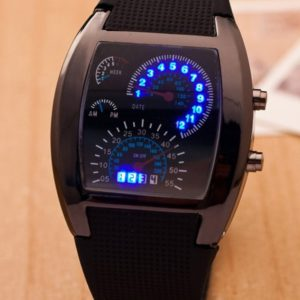 Black Quartz Sport Watch