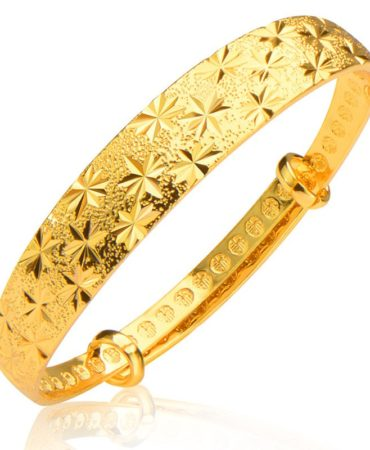 Fashion 18 k Real Gold Plated Bracelet Jewelry for Women