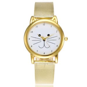 Casual Golden Color Cute Womens Watch
