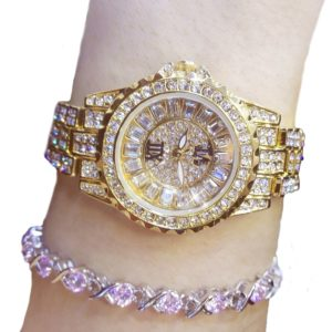 Golden Color Stainless Steel Ladies Bracelet Watch