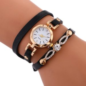 Fashion Elegant Black Womens Bracelet Watch