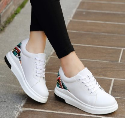 80745a6890874 Casual Genuine Leather Womens Platform Sneakers