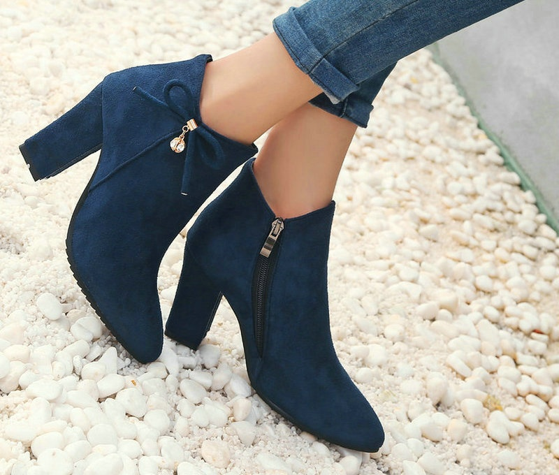High Heel Winter Pointed Toe Cute Boots for Women