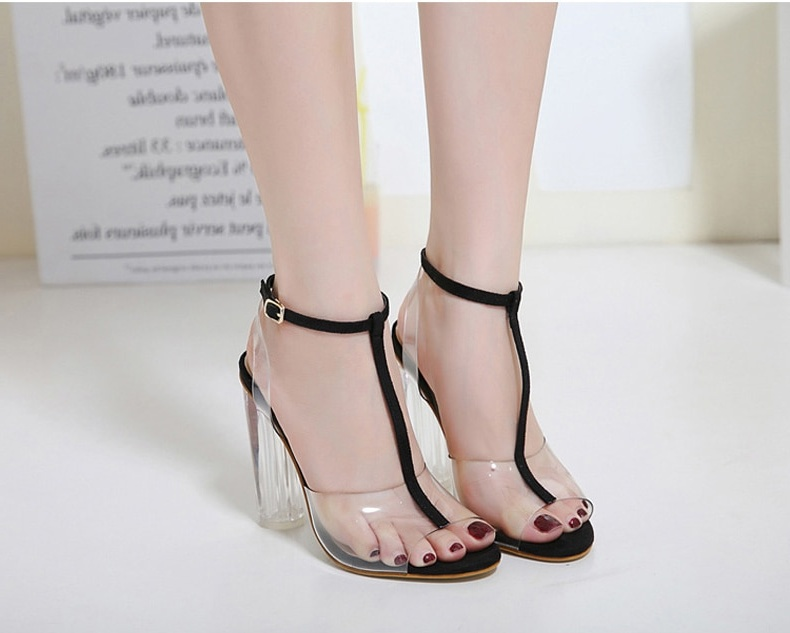 6c9612471e0 Summer High Heels Transparent Sandals for Women