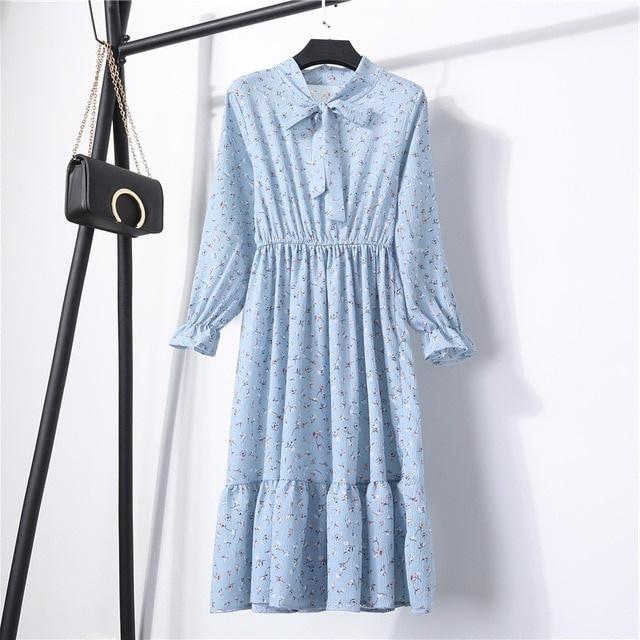 4d379b17bd657 Casual A-Line Mid Printed Cute Womens Dress