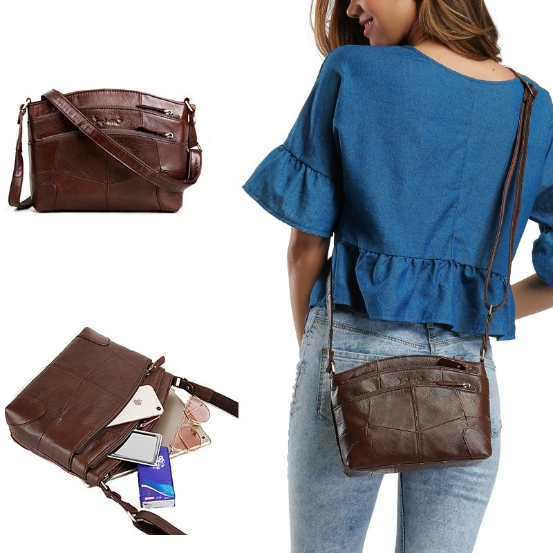 Multi Pockets Womens Crossbody Bag