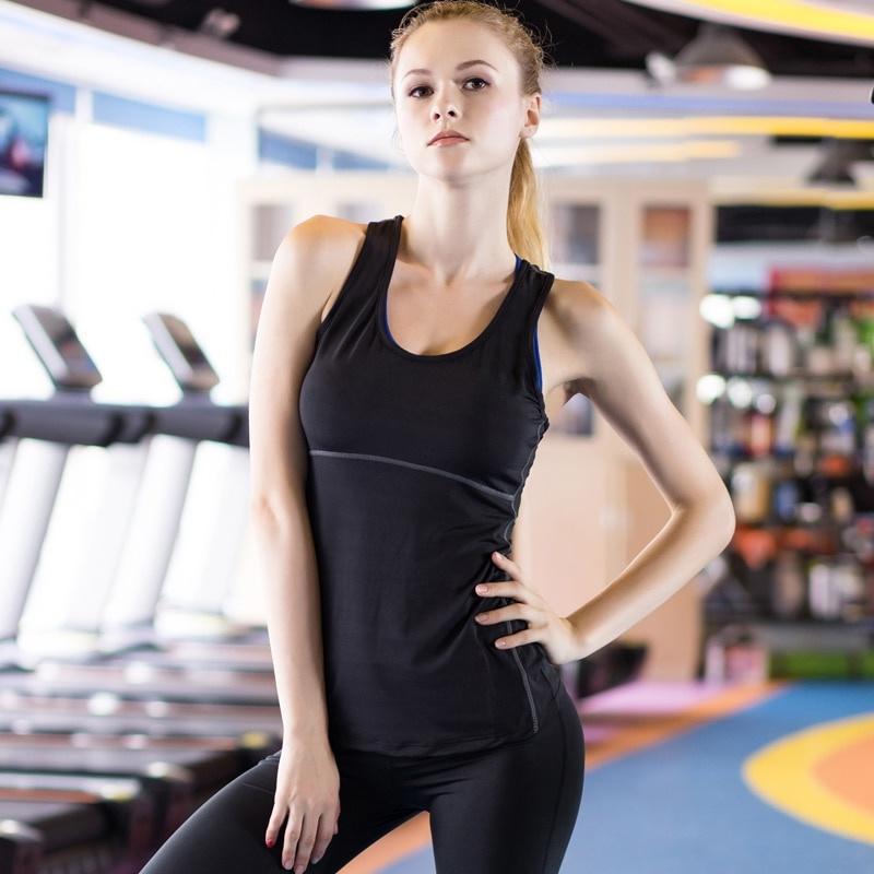 Running Quick Dry Sexy Gym Sportswear Womens Tops Shirt Vest