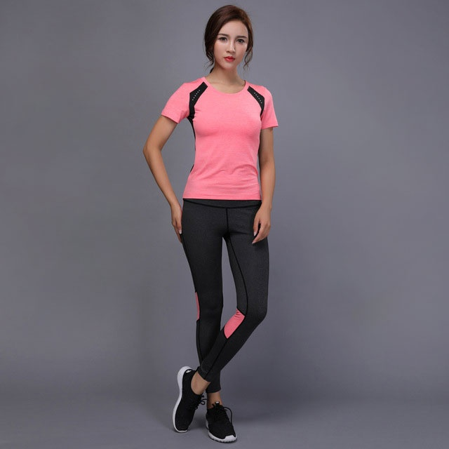 shirts pants yoga gym tennis sport suit clothing for women