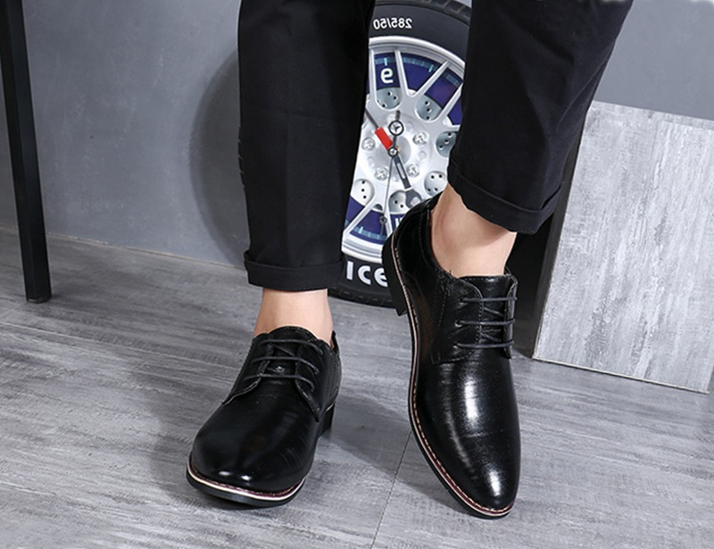 Formal Dress Oxfords Leather Round Toe