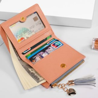 Fashion Card Holder Soft Leather Womens Cute Wallets