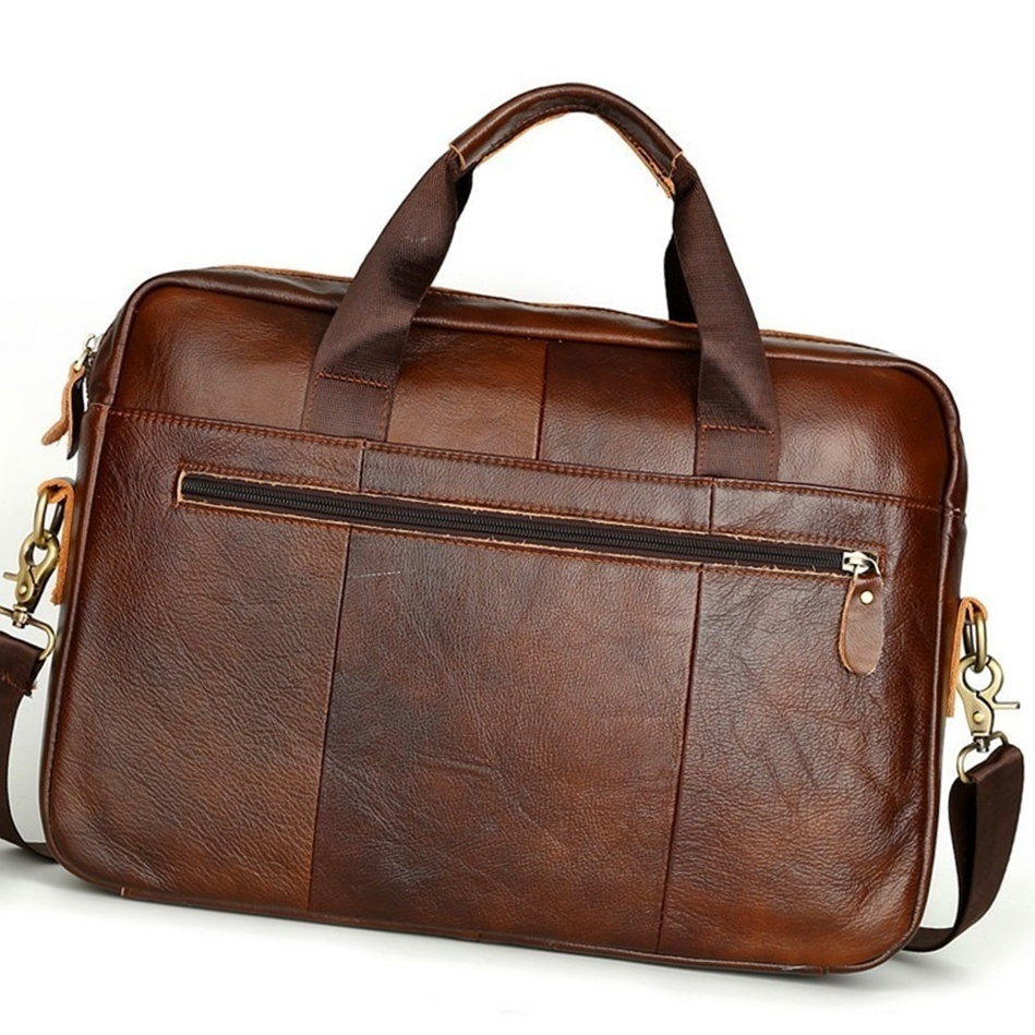 Men/'s Genuine Leather Bag Messenger Laptop Shoulder Business Briefcase Handbag