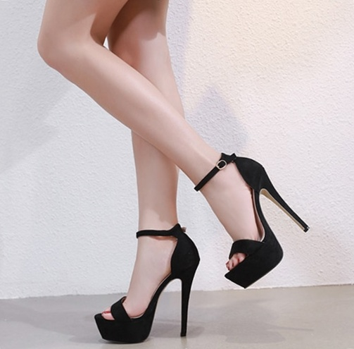 highly praised 2019 real buying cheap Black Summer Sexy Platform Party Super High Heels Women Sandals Shoes