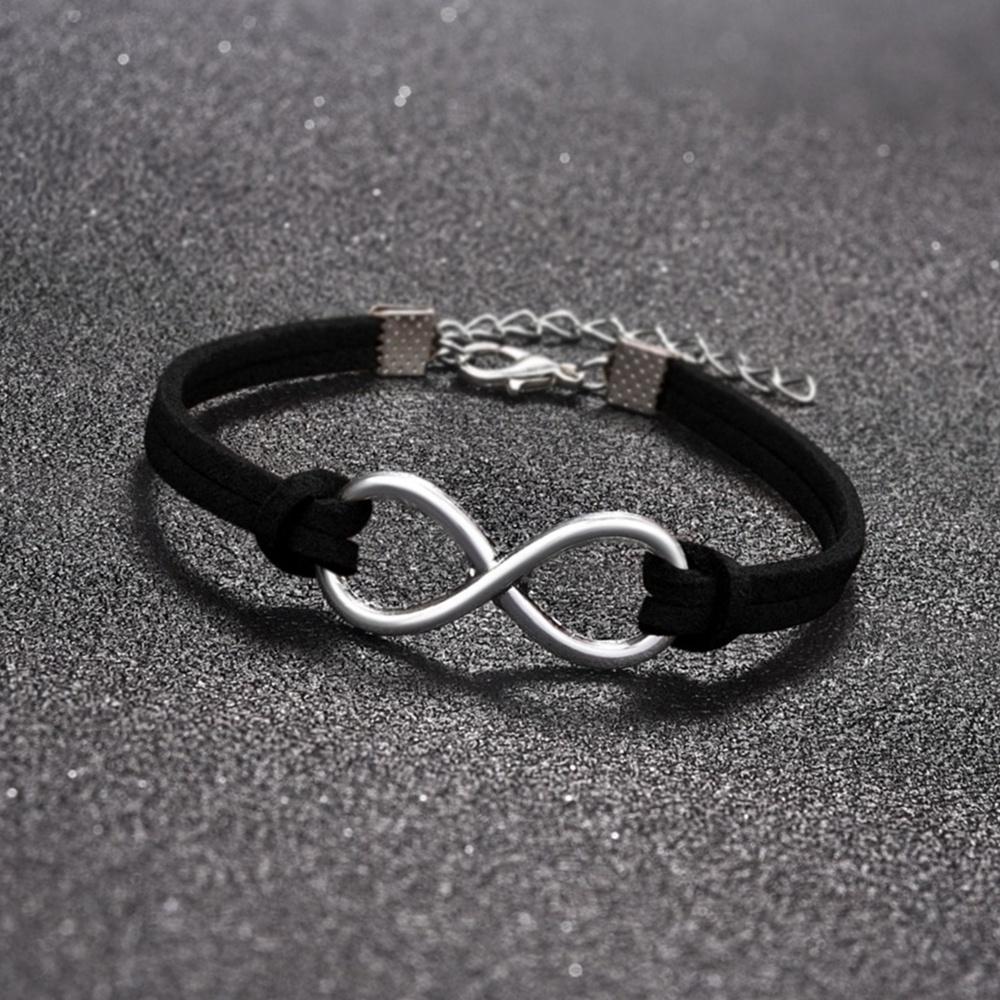 Charm Leather Infinity Mens Bracelets
