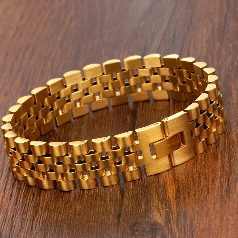 Party Luxury Gold Cuff Mens Bracelet