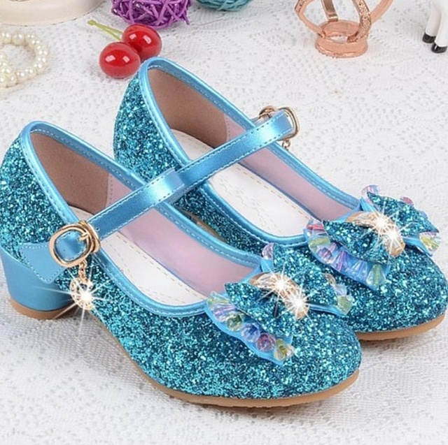 Kids Heeled Dress Party Girls Shoes