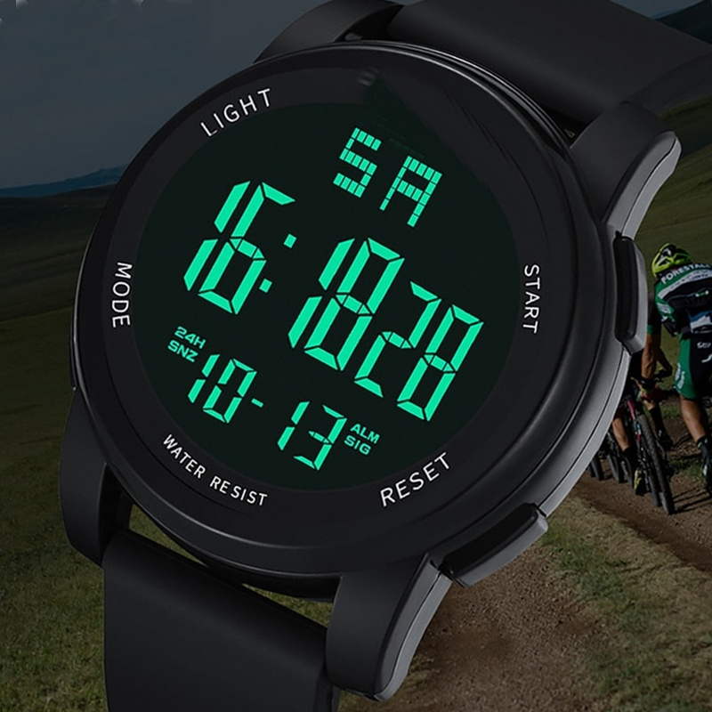 9b250b652 Shock Resistant LED Sports Watch Digital Men Wristwatch ...