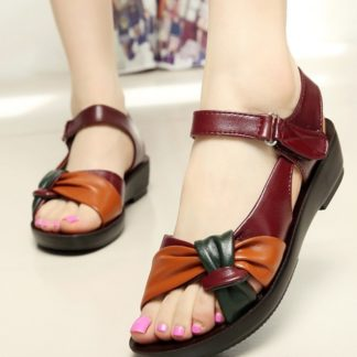 Summer Floral Genuine Leather Cute Flat