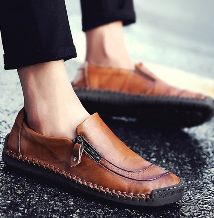 Breathable Waterproof Leather Moccasins